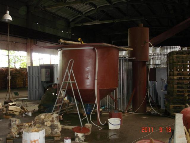 Бункер механизированной подачи сыпучего топлива